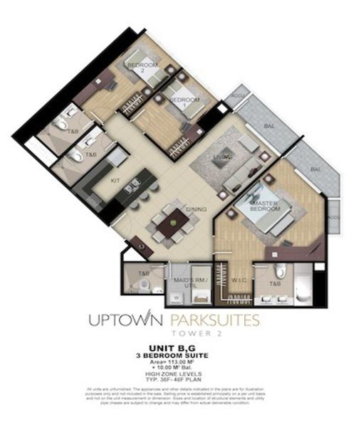 3bed suites + bal 123sqm(間取)
